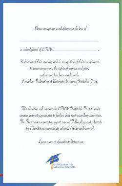 Donation In Memoriam Cards